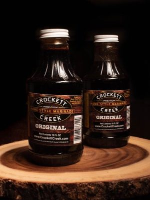 crockett creek homestyle marinade great for burgers, steaks, chicken, and more